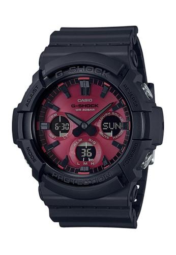CASIO black Casio G-Shock GAS-100AR-1ADR Red and Black Resin Watch BDF5CAC1FD823BGS_1