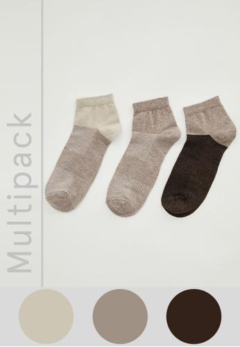 DeFacto multi 3-pack Low Cut Socks 1F797AA3BEFE63GS_1