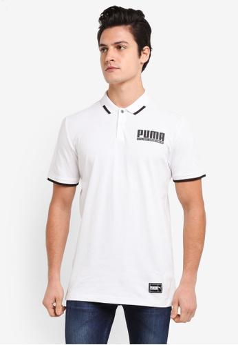 Puma white Style Athletics Polo T-Shirt PU549AA0SWJEMY_1