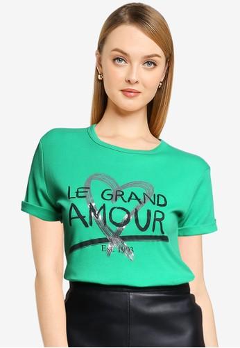 Quiz green Graphic Slogan T-Shirt ECCAAAAD2BEBC7GS_1
