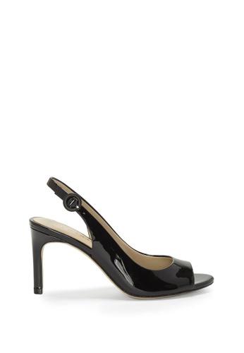 Enzo Angiolini black EN-SAIDEY Leather Slingback Peep Toe Sandals D027DSHFBF44C5GS_1