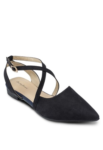 交叉繞踝帶平底鞋esprit官網, 女鞋, 鞋