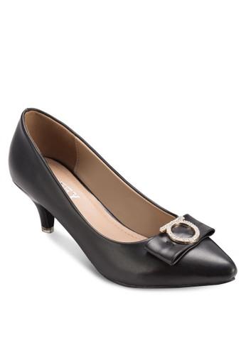 金飾蝴蝶結低esprit 工作跟鞋, 韓系時尚, 鞋