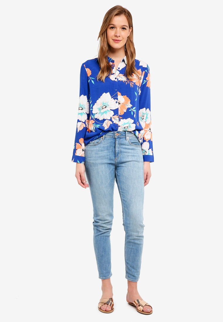 Cotton Rebecca Floral Renee Shirt The Surf On Web UZfqwxU8