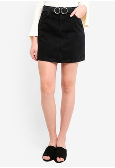 836a180e152 Dorothy Perkins black Black Belted Mini Skirt 5DC88AA9683790GS 1