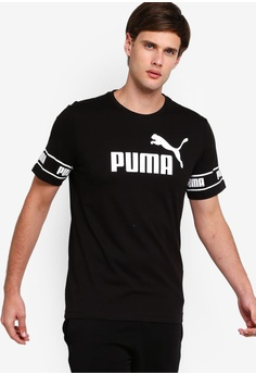 8ff7626eded PUMA black Sportstyle Core Amplified Big Logo Tee 5254CAA89F86CCGS_1