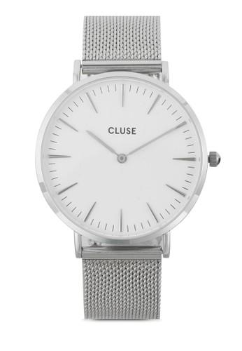 Lesprit旗艦店a Bohème 刻度顯示不銹鋼網狀圓錶, 錶類, 不銹鋼錶帶