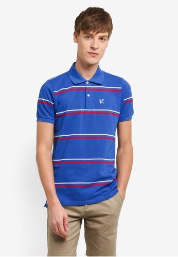REGATTA blue Essential Striped Polo Shirt RE699AA0RUPWMY_1