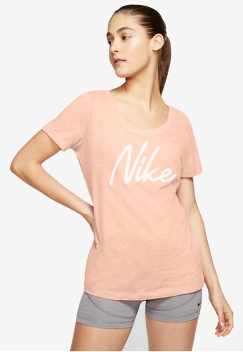 Nike orange Women's Nike Dri-FIT Logo Training Top D5E79AAA3C3FF0GS_1