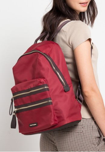 Hush Puppies red Jarrel 3 Zipped Backpack 3F948AC59D2B90GS 1 d6edf86f83