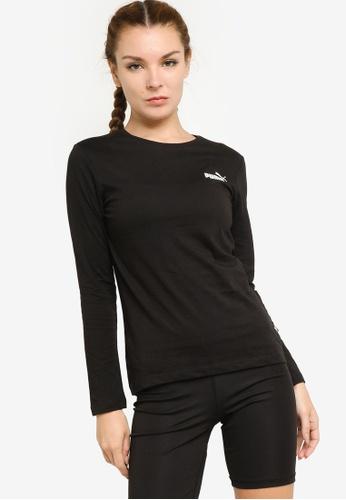 PUMA black Essentials Long Sleeve Women's Tee EBA43AAB59A4F8GS_1