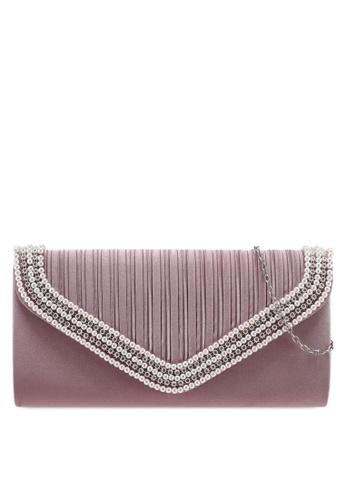 Papillon Clutch pink Pearl Envelope Clutch 634B1AC74B5101GS_1