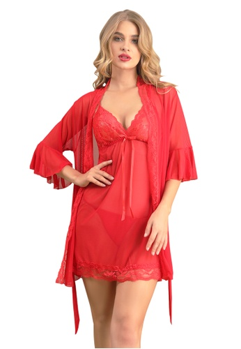 LYCKA red LCB2182-Lady Sexy Chemise and Inner Lingerie Sets-Red 168B8USE1807D7GS_1