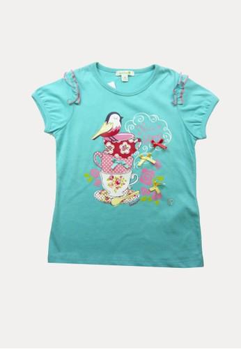 Bossini blue Bossini Kids Girl T-Shirt Sea Foam (74082713064) 22E33KA6C0E89FGS_1