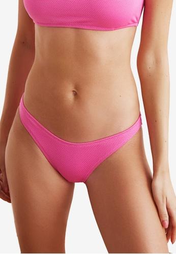Trendyol pink Low Waist Textured Bikini Bottom 8596CUSBD1C952GS_1