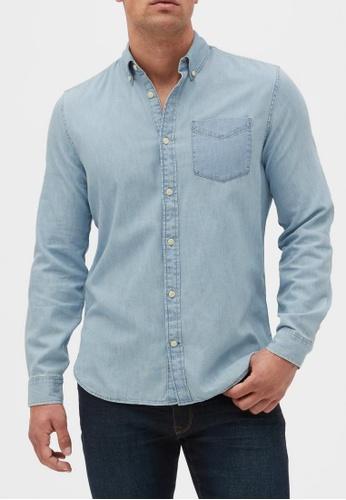 GAP blue Denim Shirt in Slim Fit D34FFAA49835F5GS_1