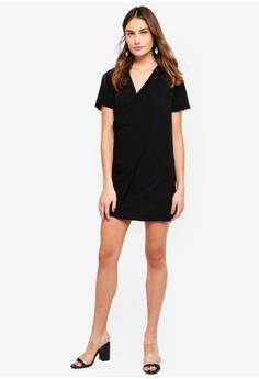 262eb7012af 60% OFF Miss Selfridge Drape Front T Dress Black S  76.90 NOW S  30.90  Sizes 6 8 10 14