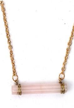 Vertical Rose Quartz Necklace