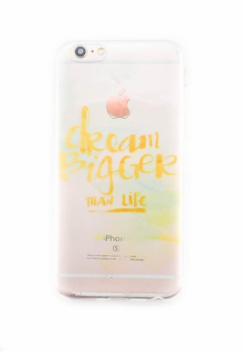 Fancy Cellphone Cases multi Dream Bigger Soft Transparent Case for iPhone 6/6s FA644AC0ITFCPH_1