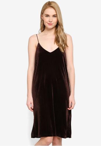 Hopeshow brown Spaghetti Strap Midi Dress 95314AA68CA648GS_1