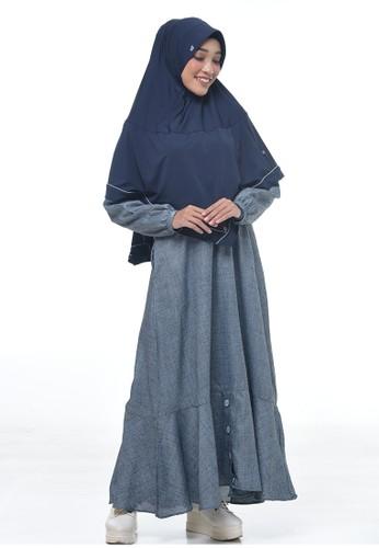 RABBANI green Dress Muslim Hyuri 20535AA58F002FGS_1