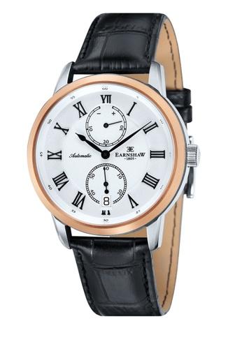 Thomas Earnshaw black Thomas Earnshaw CHANCERY ES-8035-02 Men's Black Genuine Leather Strap Watch 318C9AC362EC8DGS_1