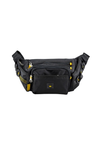EXTREME black Extreme Nylon waist bag casual chest bag travel adventure hiking fanny pack B4FB6AC3F403E7GS_1