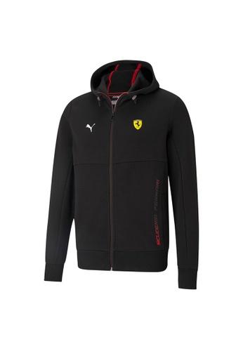 PUMA black PUMA Scuderia Ferrari Race Hooded Men's Sweat Jacket A1582AA7AE7A8EGS_1