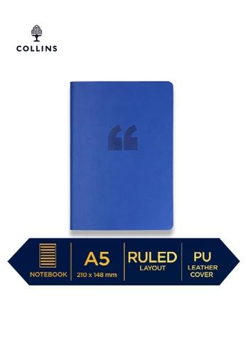 Collins blue Collins Edge Rainbow ─ 2021 Calendar Year Diary ─ Indigo ─ A5 Week to View 731F4HLB2200FAGS_1