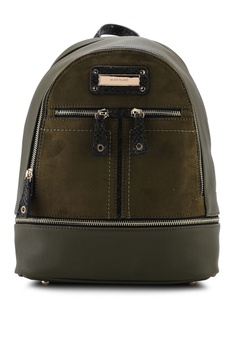 d8d675d468a6 River Island green Zip Bottom Backpack 2DCAAAC3FECB1AGS_1