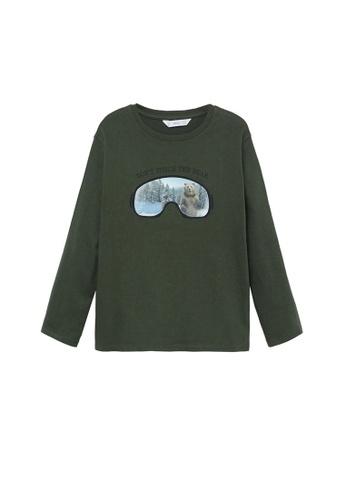 MANGO KIDS green Patch Cotton T-Shirt E92DAKAA08BAE3GS_1