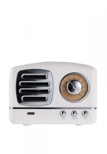 Latest Gadget white Multifunction Retro Design Bluetooth Speaker 52CF4AC6AFCF7EGS_1