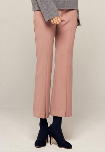 前開叉細節長褲, zalora 衣服尺寸服飾, 直腳褲