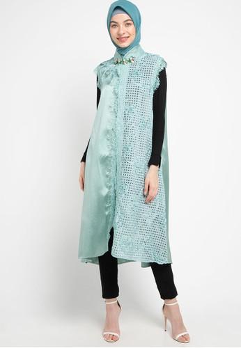 LUIRE by Raden Sirait green Ms Coat Monic Midi Mop 9848CAA7D4DC4CGS_1