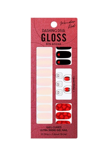 Dashing Diva red Dashing Diva Gloss Gel Strip Manicure Red Balloon /Nail Sticker /Nail Wraps E1B95BEE0AF03AGS_1