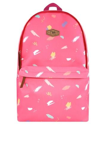 Ripples pink Scribbles Brushstrokes Digital Print Backpack 97445AC0896C63GS_1