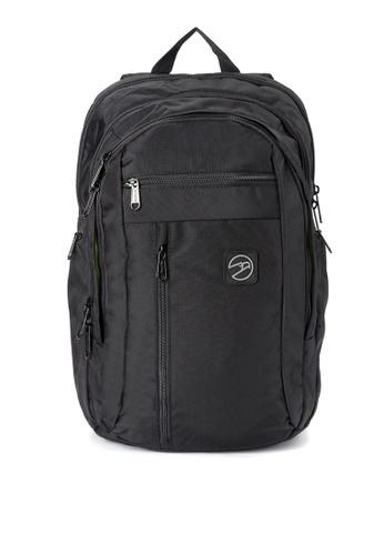 Hawk black Two Toned Textured Backpack HA267AC0IQQAPH_1