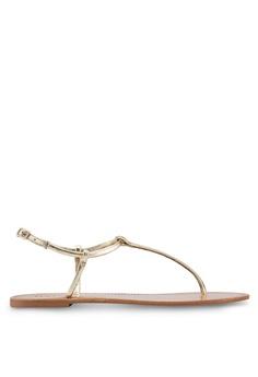 809403d3372c27 Mango Leather Straps Sandals F192BSH3F3ECFDGS 1