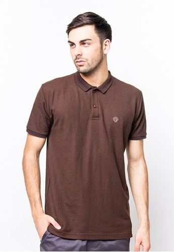 Bloop Polo Shirt E St Diamound Brown BLP-PF064
