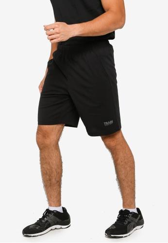 361° black Cross Training Knit Knee Shorts F798BAA9946567GS_1