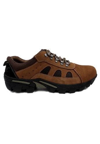 midzone brown SCORPION Leather Sneaker 89CAESHA052CC9GS_1