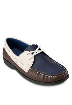 Tri Tone Faux Leather Boat Shoes