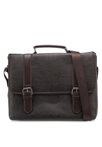 ZALORA brown Structured Briefcase 621F8ZZAD23A94GS_1