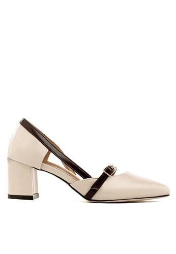 Twenty Eight Shoes beige Strappy Unilateral Open Mid Heels VL8818 3EC70SHC8135FFGS_1