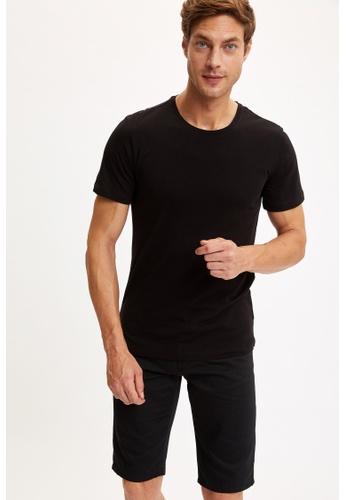 DeFacto black Short Sleeve Round Neck Basic T-Shirt 7C090AA32CDABEGS_1