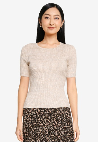 Forever New brown Audrey Crew Neck Knit Tee 3DBC9AA2D23523GS_1