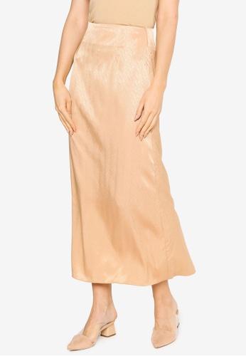 Summer Shop yellow Andrea Satin Skirt A8CF3AAEA41F84GS_1