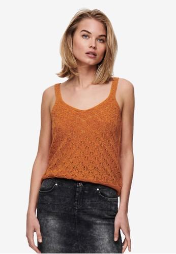 JACQUELINE DE YONG orange Desha Top DA339AADA7B4B2GS_1