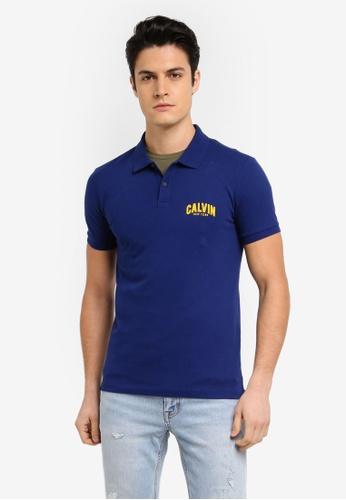 Calvin Klein blue Polis Slim Polo Shirt - Calvin Klein Jeans F8206AA0D785E7GS_1
