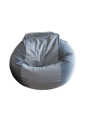 HOUZE HOUZE - Laxla Bean Bag - Silver Grey 6A568HL3065E8CGS_1